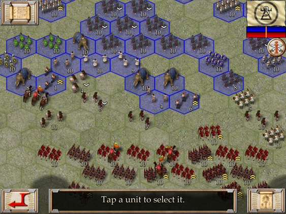 Ancient Battles: Hannibal - Computer (iPad) Game Map and Units
