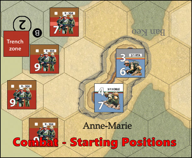 Dien Bien Phu: Combat Example - Starting Positions