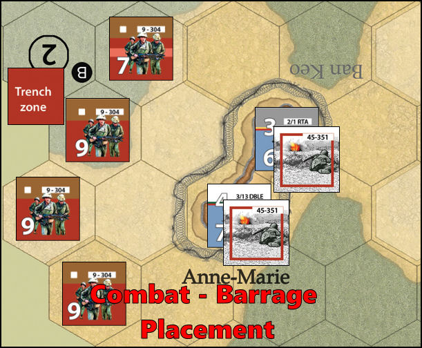 Dien Bien Phu: Combat Example - Barrage Placement