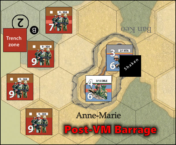 Dien Bien Phu: Combat Example - Barrage Resolution