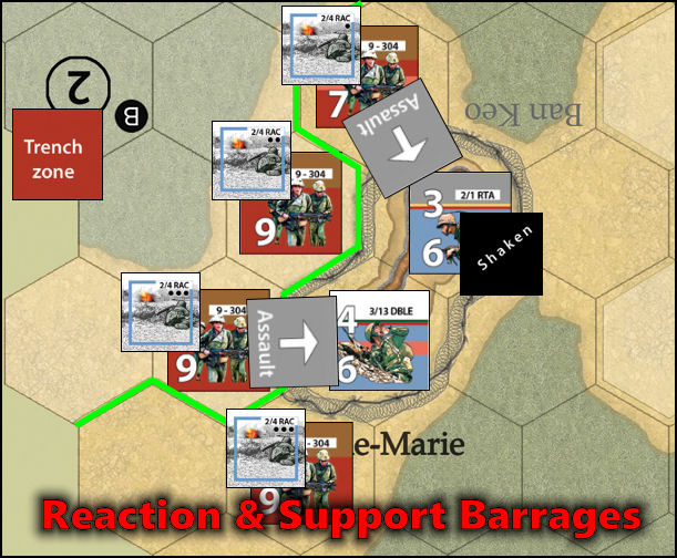 Dien Bien Phu: Combat Example - French Support/Reaction barrages