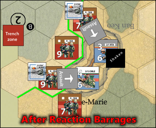 Dien Bien Phu: Combat Example - After Reaction Barrages