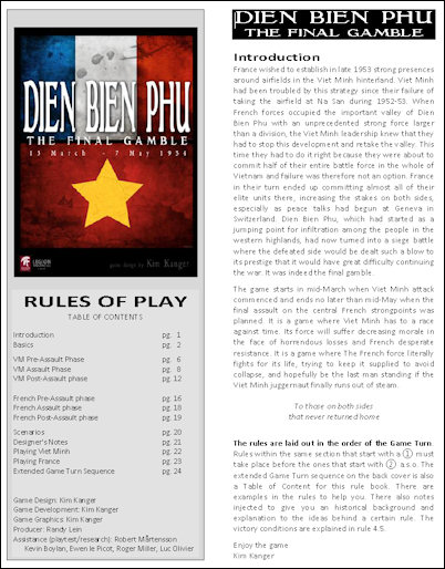 Dien Bien Phu: Awesome Rulebook
