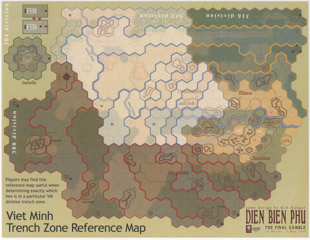 Dien Bien Phu: Trench Zone Reference Map