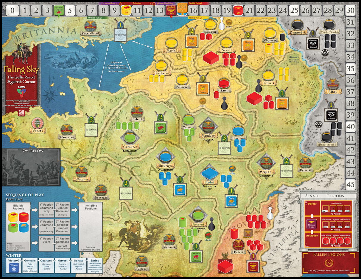 Falling Sky - Reconquest of Gaul: 53 BC Start
