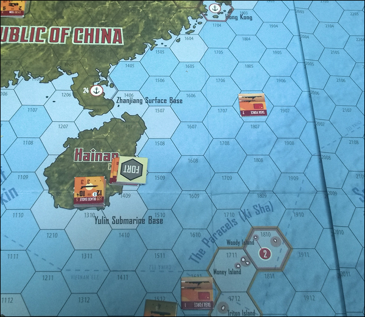 South China Sea: Chinese Task Force #2 South of Hong Kong