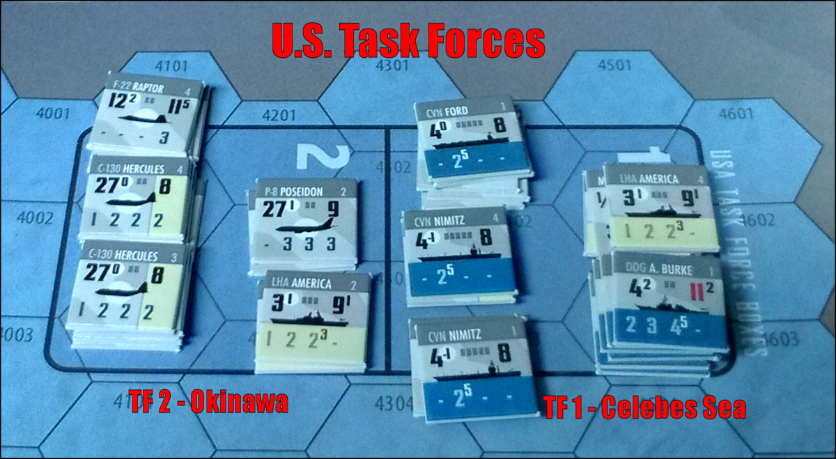 South China Sea: U.S. Task Force Dispositions after Military Turn #1