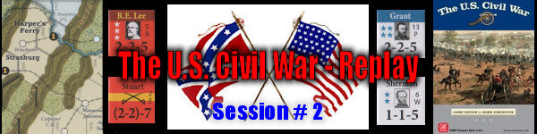 The U.S. Civil War - Board Game Replay - Session #2